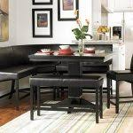 dining room sets with bench dining table with bench black
