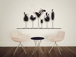 wall decals stickers home decor home furniture diy wall sticker vinyl decal various glasses of alcohol martini wine whiskey n280
