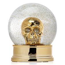skull snow globe objects of decor z gallerie