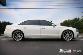 audi a8 alloys audi a8 with 22in vossen cvt wheels exclusively from butler tires