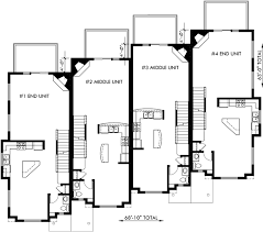 three plex floor plans main floor plan 2 for f 540 townhouse plans 4 plex house plans 3