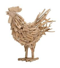 driftwood home decor amazon com deco 79 76469 driftwood rooster home decor product 21