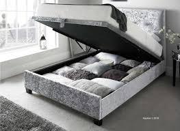 Super King Ottoman Storage Beds by Design Walkworth 6ft Superking Fabric Ottoman Bed Silver Velvet