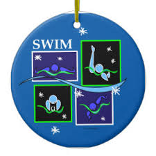 backstroke swimming ornaments keepsake ornaments zazzle