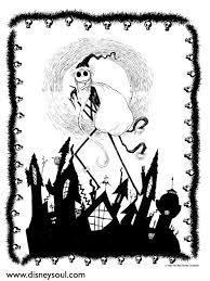 printable coloring pages nightmare before christmas coloring