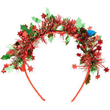claires hair accessories light up christmas wreath headband s 35 liked