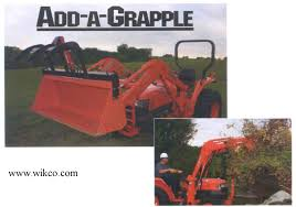 add a grapple bucket mounted grapple attachment