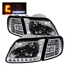 2000 F150 Tail Lights 1998 2003 Ford F150 Chrome Crystal Headlights W Clear Led Corners
