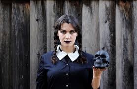 diy halloween costume wednesday addams the abstract life
