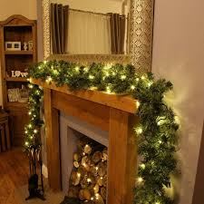 accessories thick lighted garland cordless lighted