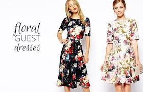 wedding guest dresses for pretty floral wedding guest dresses onefabday