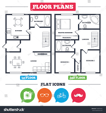 Vehicle Floor Plan Architecture Plan Furniture House Floor Plan Stock Vector