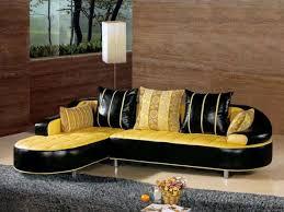 Yellow Leather Sofa with Furniture Modern Comfy Black And Yellow Leather Sofa With Chaise