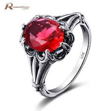 real crystal rings images Real 925 sterling silver jewelry vintage ring for momen engraved jpg