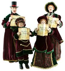 caroling family set of 4 accents and