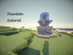 minecraft tutorial how to build a small fountain version 2