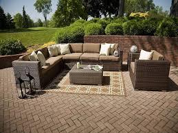 Hampton Bay Wicker Patio Furniture Exterior Enchanting Patio Design With Comfortable Hampton Bay