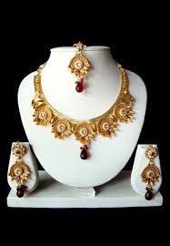 purple stone necklace set images Pin by utsav fashion on designer necklaces online pinterest jpg