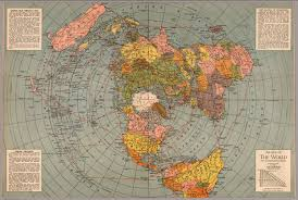 map of erth azimuthal equidistant air map of 1945 proves flat earth
