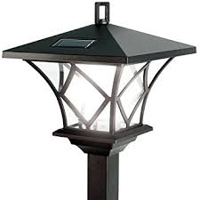 ideaworks solar powered led yard l with 5 foot pole for outdoor