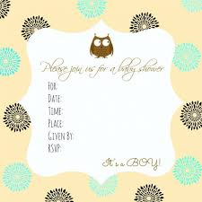 Owl Baby Shower Boy - free printable owl baby shower invitations free printable owl baby