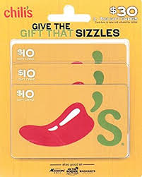 chili gift card chili s gift cards multipack of 3 10 gift cards