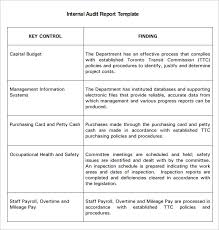 Internal Auditor Resume Sample by Internal Audit Report Free Download Internal Audit Report