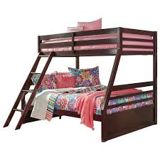 Signature Design By Ashley Halanton Solid Pine TwinFull Bunk Bed - Solid pine bunk bed