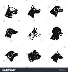 types of dogs types dogs icons set simple illustration stock vector 520832986