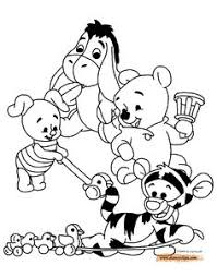 coloring pages kids rabbit winnie pooh birthdays