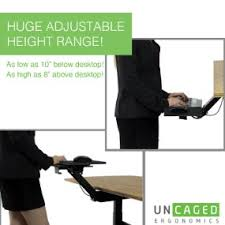 amazon com uncaged ergonomics adjustable height u0026 angle