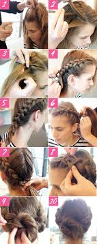 homecoming hair braids instructions 10 easy steps to a double braided bun easy braided updo hair
