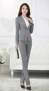 Pant Suits Formal Pant Suits For Business Suits For Work Wear Sets Gray