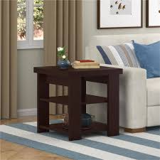 Tall End Tables Living Room by Ameriwood Home Jensen End Table Espresso Walmart Com