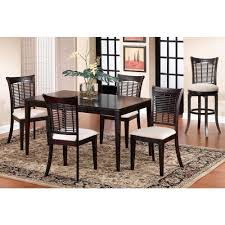 bayberry 5 piece dark cherry dining set dining chair set and