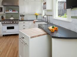 butcher block island contemporary kitchen emily campbell