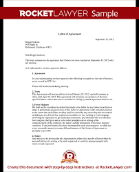 doc 575709 agreement letters u2013 letter of agreement form template