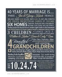 40 anniversary gift 40th wedding anniversary gift ideas easy wedding 2017 wedding