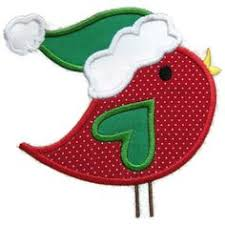 christmas applique christmas bird machine embroidery applique design christmas