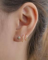 two earrings piercing earring best 25 pierced earrings ideas on