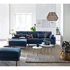 Canapé Fixe Confortable Design Au Canapé D Angle Fixe Stockholm Polyester Confort E La Redoute