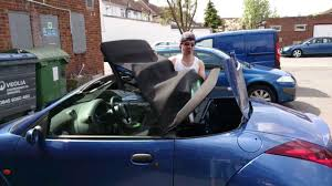ford streetka convertible soft top roof closing youtube