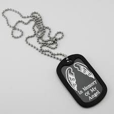 memorial necklace angel wings aluminum dog tag memorial necklace my forever child