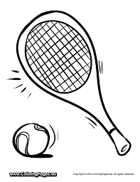tennis coloring page getcoloringpages com