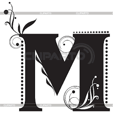 initial letter m stock vector graphics cliparto