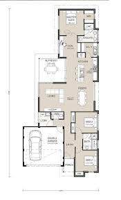 floor plans for narrow blocks nice plan but i would make it a single car garage only planos