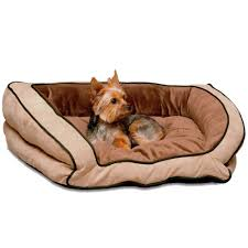 k u0026h bolster couch pet bed mocha tan large 28