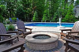 Round Brick Fire Pit Design - paver fire pit designs moscarino outdoor creations
