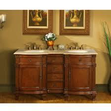 60 In Bathroom Vanity by Antique Silkroad 60 Inch Double Bathroom Vanity Travertine Top