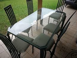 glass top steel patio table and 6 chairs randburg gumtree